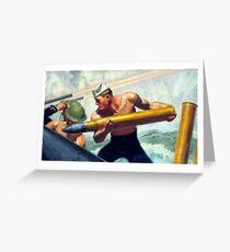 Vintage U.S. Navy Recruitment Advertisement Greeting Card