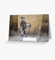 Banksy Kid Greeting Card