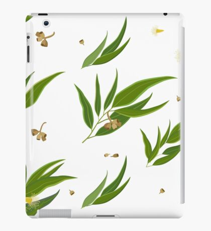 Floral pattern of eucalyptus leaves and seeds iPad Case/Skin