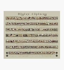 Bayeux Tapestry Full Scenes On Beige Background Photographic Print