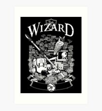 RPG Class Series: Wizard - White Version Art Print