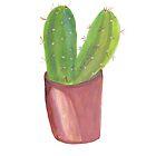 Pretty prickly cactus in a pot by shoshannahscrib