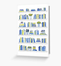 Delft Bookcase Greeting Card