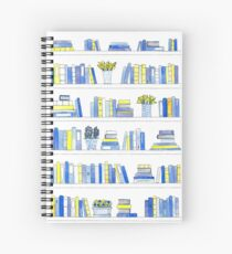 Delft Bookcase Spiral Notebook