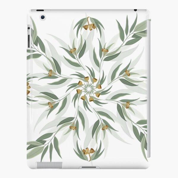 Circular pattern of eucalyptus leaves and seeds iPad Snap Case
