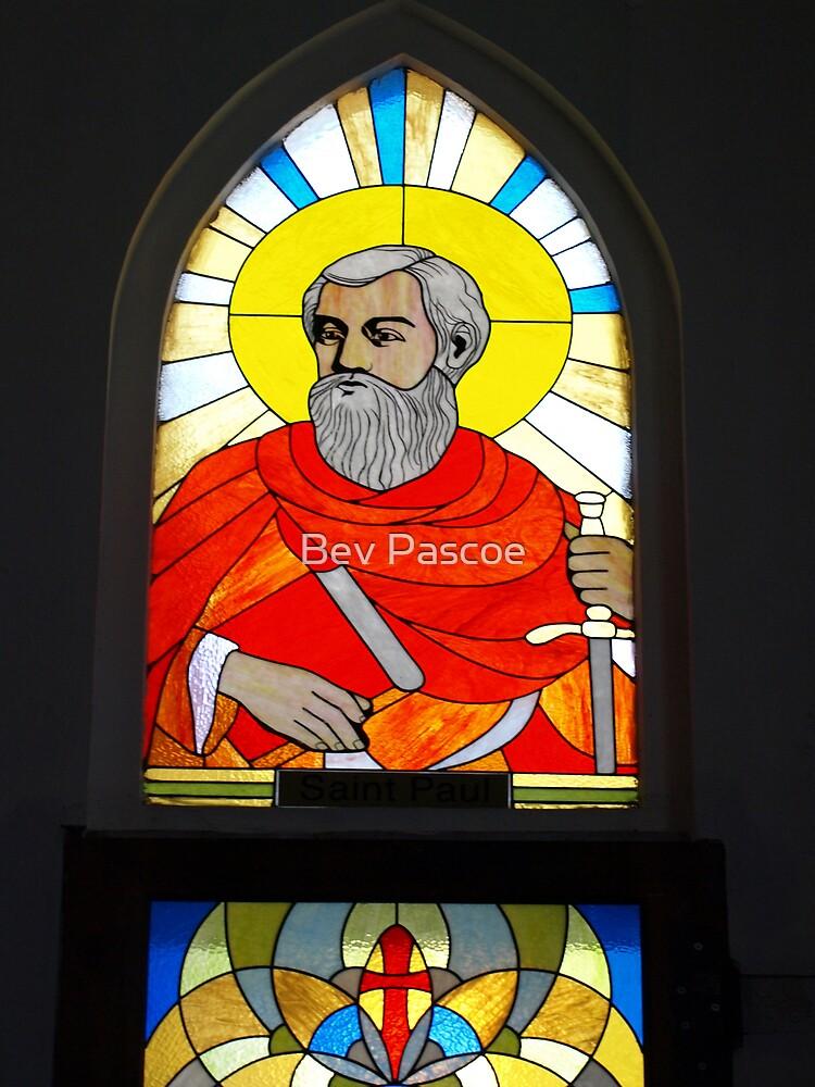 Window of St Paul, Catholic Church, Sapa, Nth Vietnam by Bev Pascoe