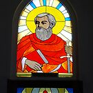 Window of St Paul, Catholic Church, Sapa, Nth Vietnam by Bev Pascoe