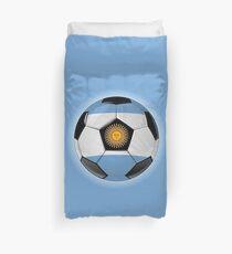 Argentina - Argentine Flag - Football or Soccer Duvet Cover