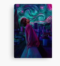 "Kim Taehyung ""Starry Night"" Canvas Print"