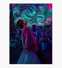 """Kim Taehyung """"Starry Night"""" Photographic Print"""