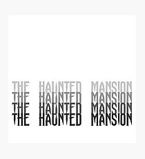 Haunted Mansion Word Art Photographic Print