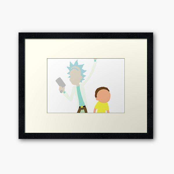 Rick and Morty Framed Art Print