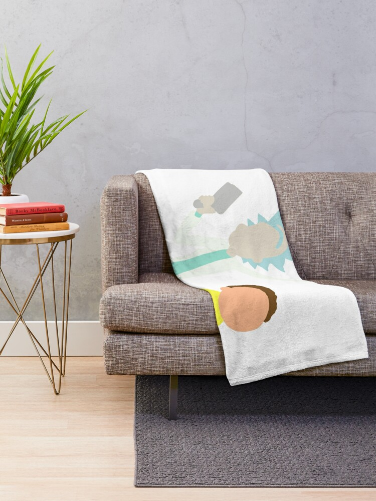 Alternate view of Rick and Morty Throw Blanket