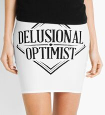 Delusional Optimist - Novelty Mini Skirt