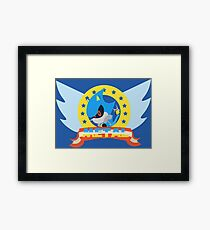 Metal Sonic Framed Print