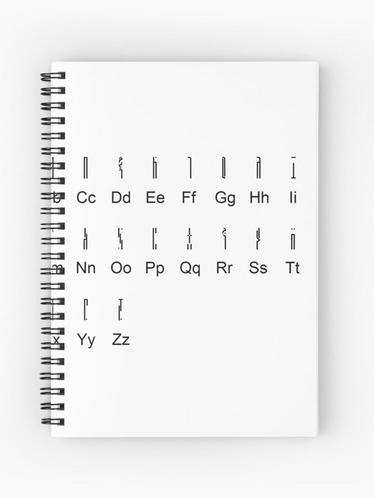 Wraith Alphabet Stargate Atlantis Spiral Notebook By Ricemann Redbubble