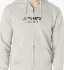 Sudadera con capucha y cremallera Edición BitMex 100x o GTFO