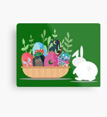 easter bunny basket Metal Print