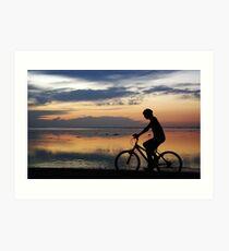 Boy on a Bike Art Print