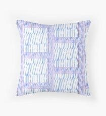 wiggly wavy Throw Pillow