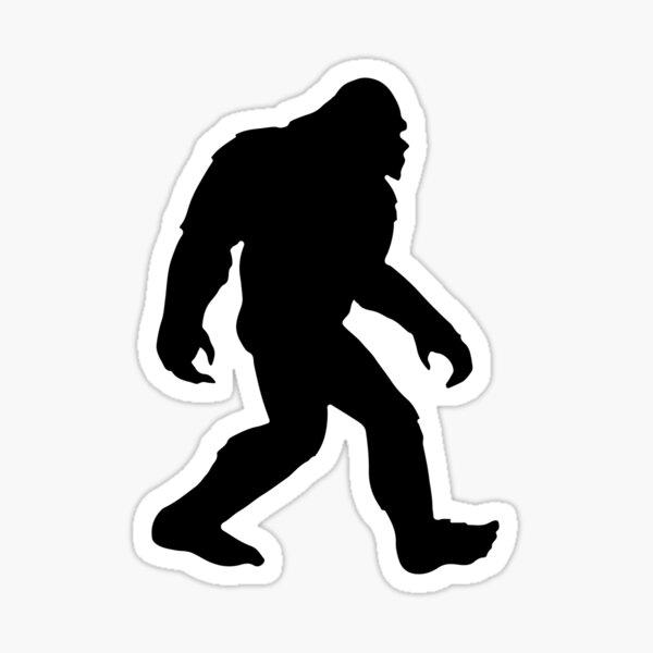 Bigfoot Silhouette Sticker Sasquatch Sticker