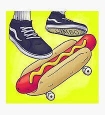 Hot Dog Skateboard Photographic Print