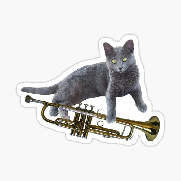 Cat Trumpet Sticker