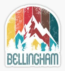 Retro City of Bellingham T Shirt for Men Women and Kids Sticker
