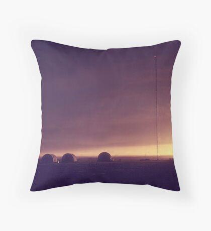 Arctic Coast Evening Throw Pillow