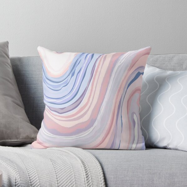 Pastel Marble Throw Pillow