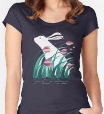 Camiseta entallada de cuello redondo Conejo, descansando