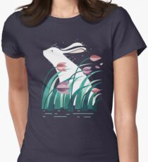 Rabbit, Resting Women's Fitted T-Shirt