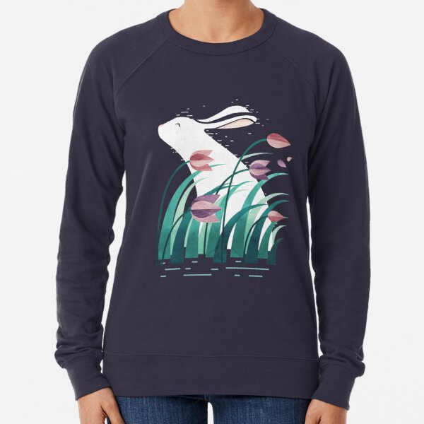 Rabbit, Resting Lightweight Sweatshirt