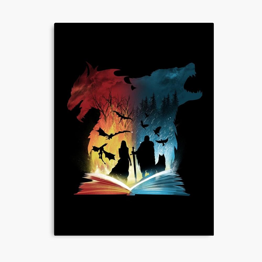 Buch von Feuer und Eis Leinwanddruck