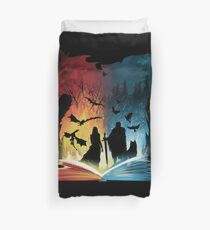 Book of Fire and Ice Duvet Cover