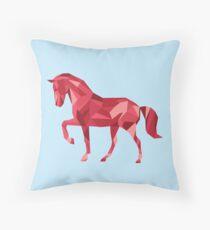 Geometric Horse Throw Pillow