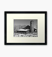 Winter Barn Framed Print