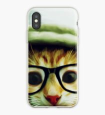 Vintage Cat Wearing Glasses iPhone Case