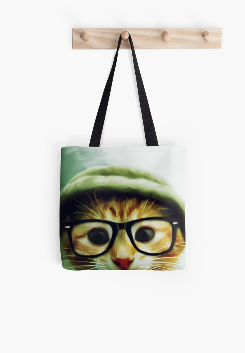 Vintage Cat Wearing Glasses by MyArt23