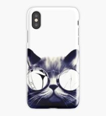 Vintage Cat Wearing Glasses iPhone Case/Skin
