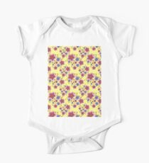pink and blue flowers on yellow Kids Clothes