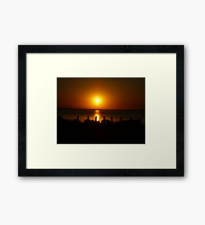Sunset Shadows Framed Print