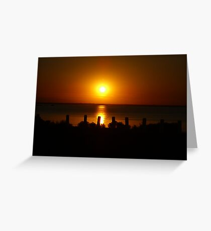 Sunset Shadows Greeting Card