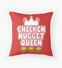 Hühnchen Nugget Königin Dekokissen