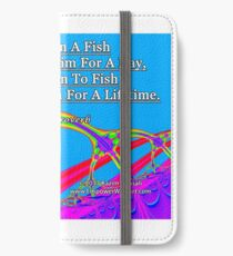 Give A Man A Fish iPhone Wallet/Case/Skin