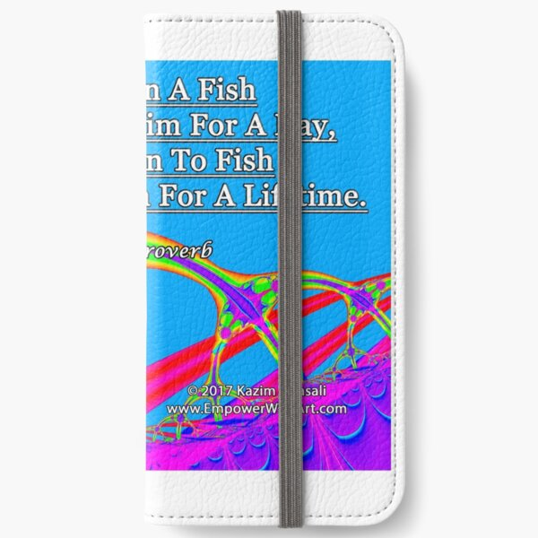 Give A Man A Fish iPhone Wallet