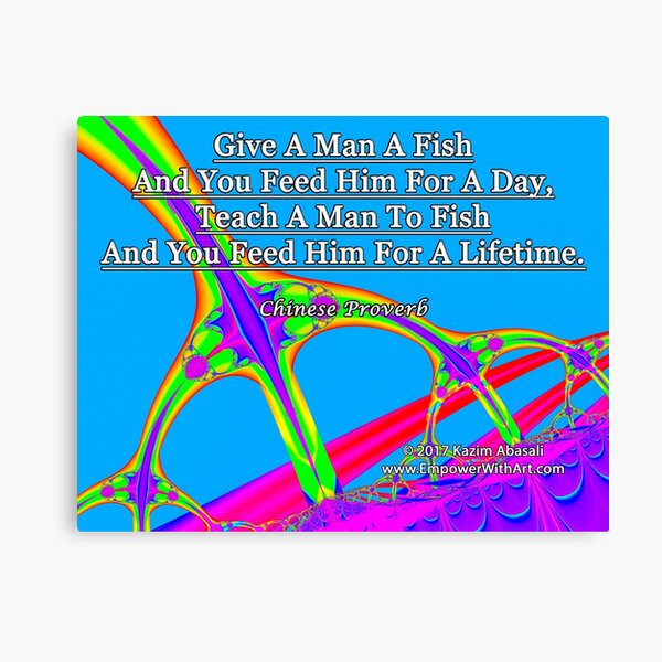 Give A Man A Fish Canvas Print