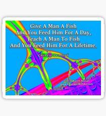 Give A Man A Fish Sticker