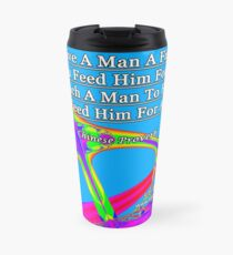 Give A Man A Fish Travel Mug