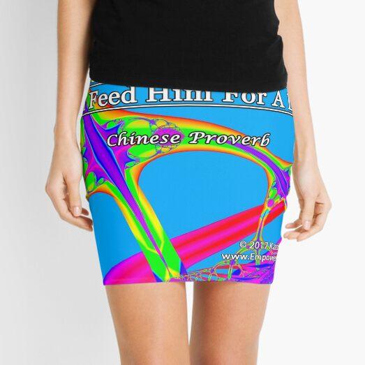 Give A Man A Fish Mini Skirt